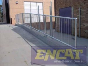Ball Stanchion Modular Handrail manufactured by ENCAT