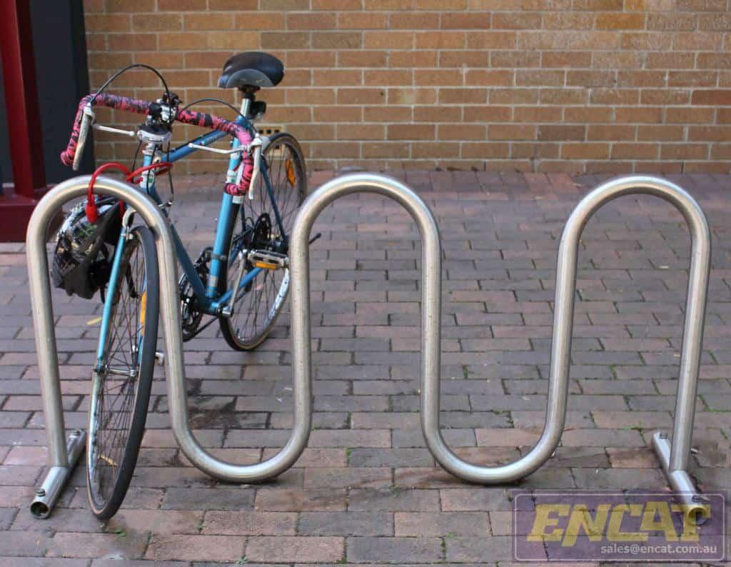 bike rack python designed and manufactured in Australia by ENCAT