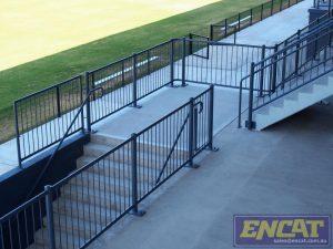 Grand stand crowd loading balustrade custom made by ENCAT in Australia