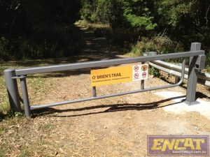 ENCAT Australian designed road access gate for fire trail