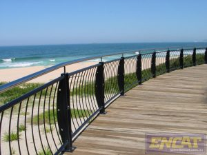 Ocean Wave Outdoor Handrail designed and manufactured in Australia from ENCAT