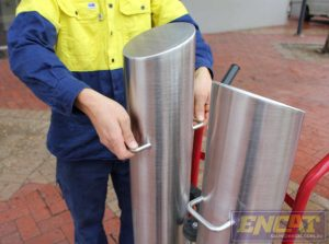 removable steel security bollards manufactured in Australia by ENCAT