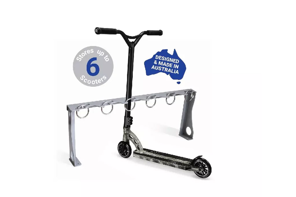 Scooter Parking Rack designed and manufactured in Australia by ENCAT