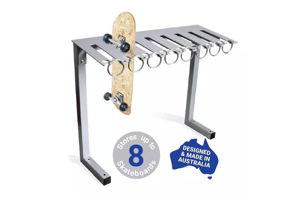 skateboard rack designed and manufactured in Australia by ENCAT