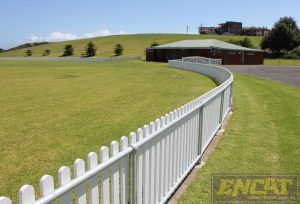 sporting oval picket fence for sale from ENCAT Australian Manufacturer