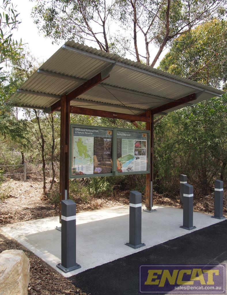 Outdoor bollard filled with concrete manufactured in Australia by ENCAT