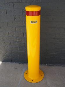 Bollard BASEPLATE 165mm Yellow 1