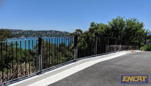 BCA Compliant RMS Pedestrian Fencing Made by ENCAT in Australia at Kincoppal School