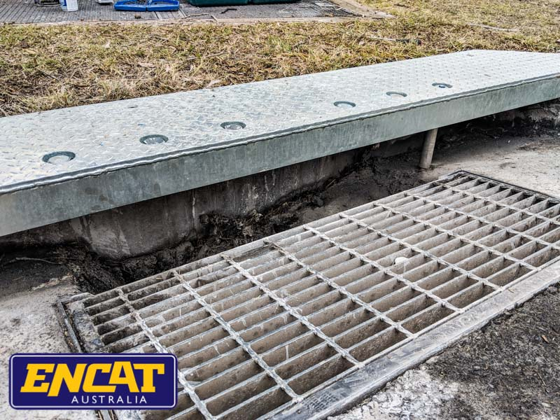 ENCAT Australia Steel Kerb Lintel Repair Kerbs Drains Straight or Radial for main roads