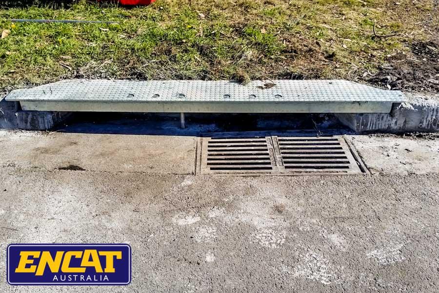 ENCAT Australia Truck Resistant Steel Kerb Lintel Repair Kerbs Drains Straight or Radial