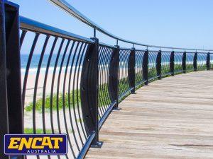 ENCAT Ocean Wave Outdoor Balustrade for beach coastal viewing deck 23