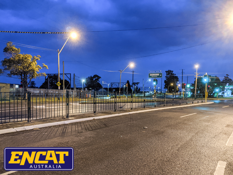 Pedestrian fencing installed at Asquith on Pacific Highway by ENCAT Australian RMS fencing manufacturer 6
