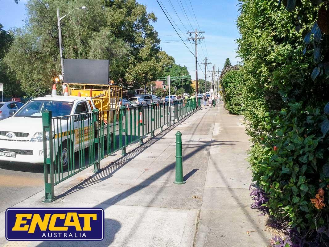 ENCAT Australia Pedestrian Fencing supplier in Australia for use outside public pools or car parks on a verge