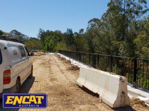 ENCAT BCA Compliant Pedestrian Fencing manufacturer for a road verge